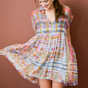 FREE PEOPLE empire extreme printed dress.